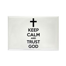 Keep calm and trust god Rectangle Magnet (10 pack)