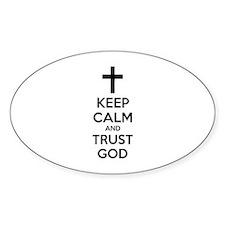 Keep calm and trust god Decal