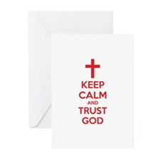 Keep calm and trust god Greeting Cards (Pk of 10)