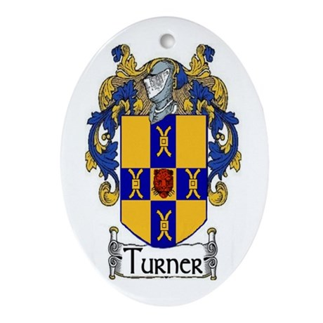 Turner Coat of Arms Oval Ornament