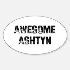 Awesome Ashtyn Oval Decal