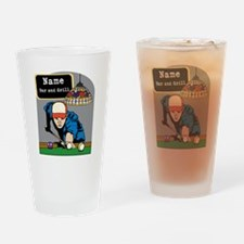 Personalized Mens Billiards Drinking Glass