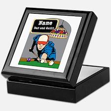 Personalized Mens Billiards Keepsake Box