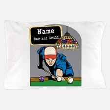 Personalized Mens Billiards Pillow Case