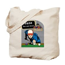Personalized Mens Billiards Tote Bag