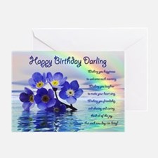 Birthday card for darling with forget me nots Gree