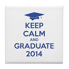 Keep calm and graduate 2014 Tile Coaster