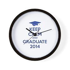 Keep calm and graduate 2014 Wall Clock