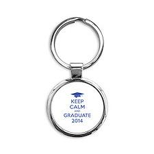 Keep calm and graduate 2014 Round Keychain