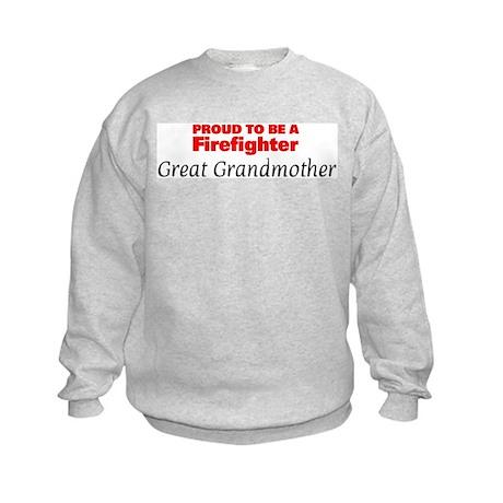 Proud Great Grandmother: Fire Kids Sweatshirt