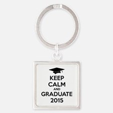 Keep calm and graduate 2015 Square Keychain