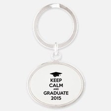 Keep calm and graduate 2015 Oval Keychain