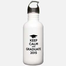 Keep calm and graduate 2015 Water Bottle