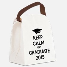 Keep calm and graduate 2015 Canvas Lunch Bag