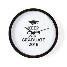 Keep calm and graduate 2016 Wall Clock