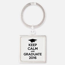 Keep calm and graduate 2016 Square Keychain