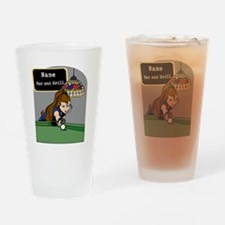 Personalized Womens Billiards Drinking Glass
