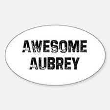 Awesome Aubrey Oval Decal