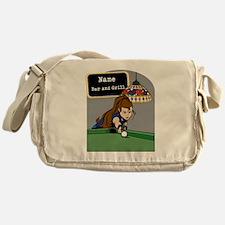 Personalized Womens Billiards Messenger Bag
