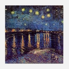 Starry Night Over The Rhone by Vincen Tile Coaster