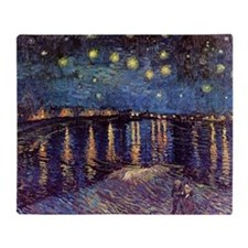 Starry Night Over The Rhone by Vince Throw Blanket