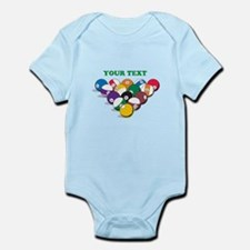 Personalized Billiard Balls Infant Bodysuit