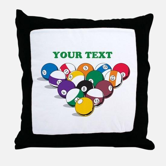 Personalized Billiard Balls Throw Pillow