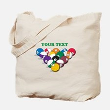 Personalized Billiard Balls Tote Bag