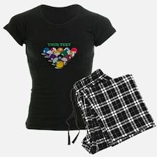 Personalized Billiard Balls Pajamas