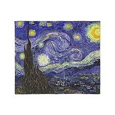 Starry Night by Vincent van Gogh Throw Blanket