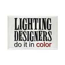 Lighting Designers Do it in C Rectangle Magnet