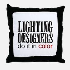 Lighting Designers Do it in C Throw Pillow
