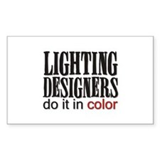 Lighting Designers Do it in C Sticker (Rectangular