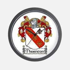 Thornton Coat of Arms Wall Clock