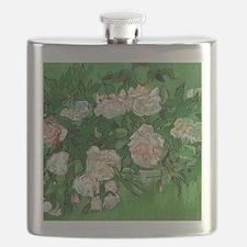 Pink Roses by Vincent van Gogh Flask