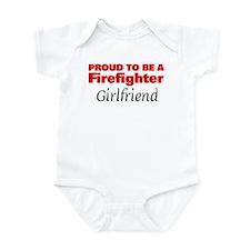 Proud Girlfriend: Firefighter Infant Bodysuit