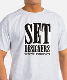Set Designers do it with Pers Ash Grey T-Shirt