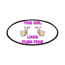 This Girl Likes Push Pins Patches