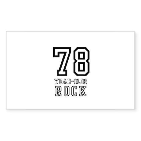78 Rectangle Sticker