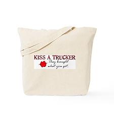 Kiss a Trucker Tote Bag