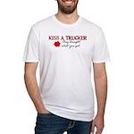 Kiss a Trucker Fitted T-Shirt