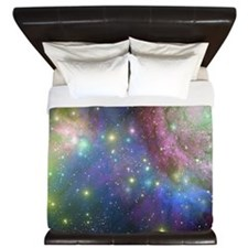 Outer Space and Stars King Duvet
