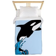 Blue killer whale Twin Duvet