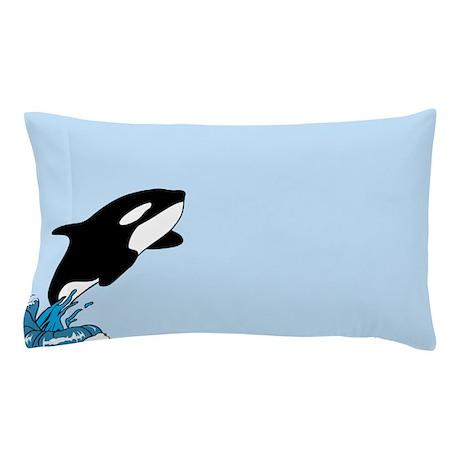 Blue killer whale Pillow Case