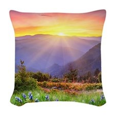 Majestic Sunset Woven Throw Pillow