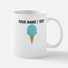 Custom Blue Waffle Cone Small Mug