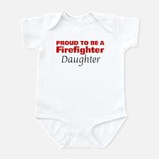 Proud Daughter: Firefighter Infant Bodysuit