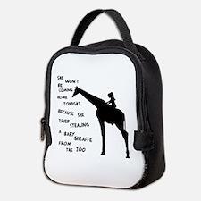 Giraffenapping Neoprene Lunch Bag