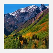 Tile Coaster - Autumn Colors above Ouray, CO