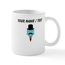 Custom Blue Ice Cream Man Small Mug